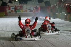 Kart race on ice: winner Michael Schumacher