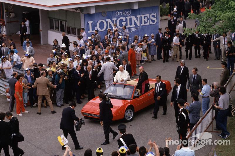 John Paul II The Pope visit Ferrari in 1988