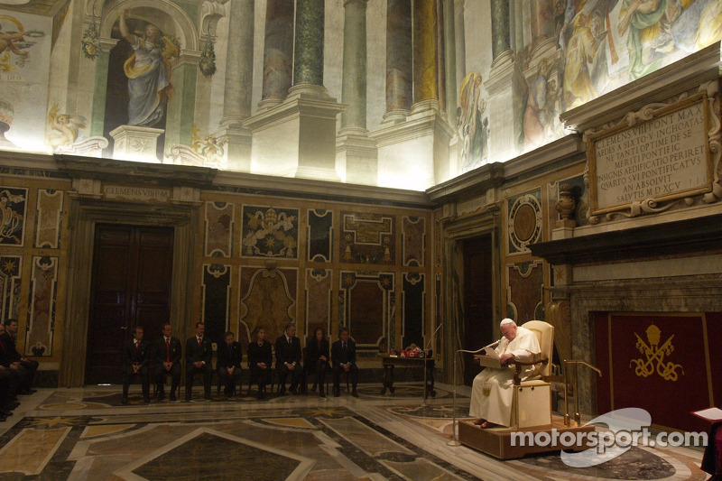 John Paul II The Pope during the audience