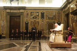 John Paul II The Pope and Luca di Montezemelo during the audience