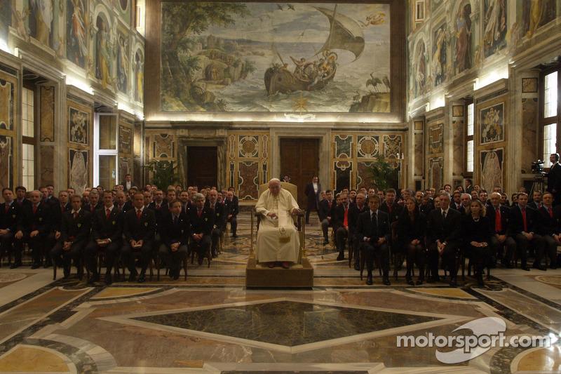 John Paul II The Pope with the Ferrari delegation