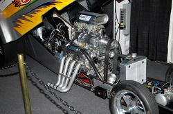 Powerplant in the Avanti Performance Products Alcohol Funny Car. Driven by Ralph Geroni at Maple Grove.