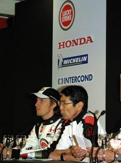 Jenson Button and Shoichi Tanaka