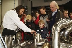 Visitors learn detayed process behind building ve motor exhaust