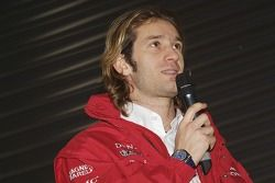 Jarno Trulli speaks to fans at the event