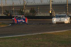 #59 Brumos Racing Porsche Fabcar: Hurley Haywood, J.C. France, #74 Robinson Racing Lexus Riley: Geor