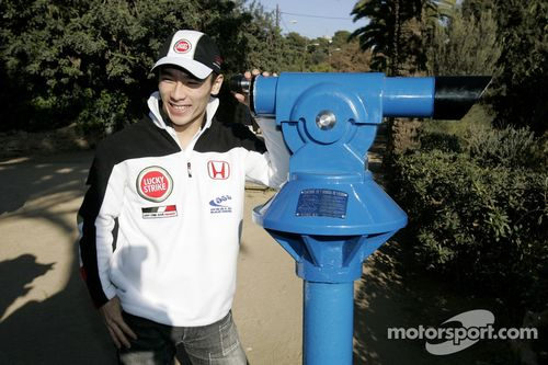 Día de prensa del Takuma Sato en Barcelona
