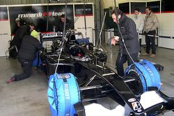 Minardi team members at work