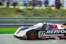 Оскар Ларраури, Хесус Пареха, Вальтер Брун, Brun Motorsport, Porsche 962C (№17)