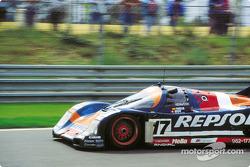 #17 Brun Motorsport Porsche 962C: Oscar Larrauri, Jésus Pareja, Walter Brun