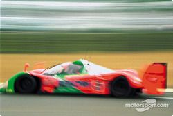 #5 Mazdaspeed Mazda MXR-01 blur at the Dunlop chicane: Volker Weidler, Johnny Herbert, Bertrand Gach