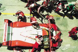 Jan Lammers pits #38 Toyota TS010