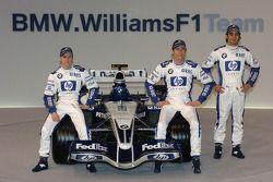 Nick Heidfeld, Mark Webber ve Antonio Pizzonia ve yeni Williams BMW FW27