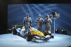 Franck Montagny, Fernando Alonso und Giancarlo Fisichella