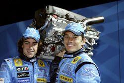 Fernando Alonso en Giancarlo Fisichella