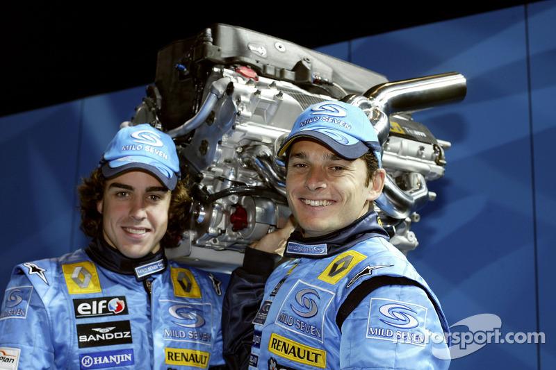 2005 - Renault - Fernando Alonso 133 X 58 Giancarlo Fisichella
