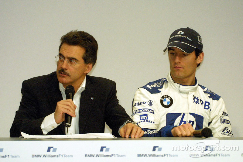 Dr Mario Theissen and Mark Webber