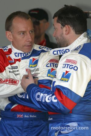 Andy Wallace discusses with Tony Stewart