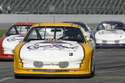 Danny Lasoski leads the cars back on pit road