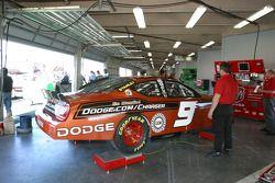 Dodge of Kasey Kahne in the garage