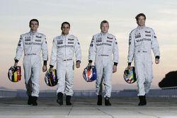 Pedro de la Rosa, Juan Pablo Montoya, Kimi Raikkonen and Alexander Wurz