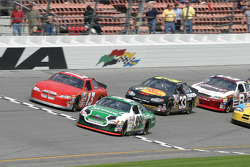 Greg Sacks and Carl Edwards lead a group of cars