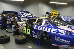 Lowe's Chevy crew garage area