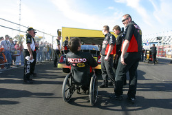 Bootie Baker and the NetZero crew at technical inspection