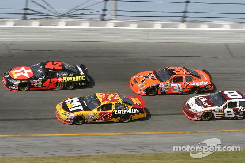 Jamie McMurray, Scott Wimmer, Jeff Burton and Dale Earnhardt Jr.