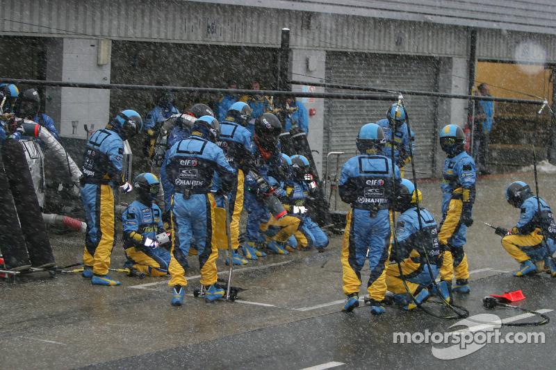 Treino de parada de pits na Renault