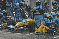 Pitstop practice for Fernando Alonso