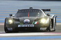 Andrea Bertolini tests the Maserati MC12 GT1