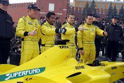 Robert Doornbos, Narain Karthikeyan, Tiago Monteiro and Nicky Pastorelli