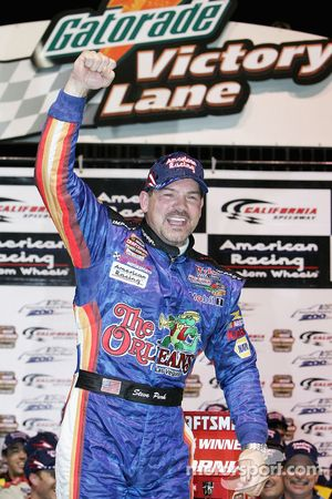 Victory lane: race winner Steve Park celebrates