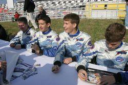 Ross Bentley, Brad Coleman, Colin Braun and Adrian Carrio