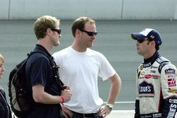 Jimmie Johnson swaps stories with Tommy Kendall