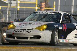 #14 Autometrics Motorsports Porsche GT3 Cup: Leh Keen, Cory Friedman, Steve Johnson, Al Bacon goes sideways