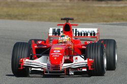 Luca Badoer tests the new Ferrrari F2005