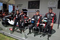 Minardi team launch: Paul Stoddart, Christijan Albers, Patrick Friesacher and Chanock Nissany