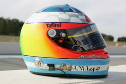 Helmet of Jose Maria Lopez