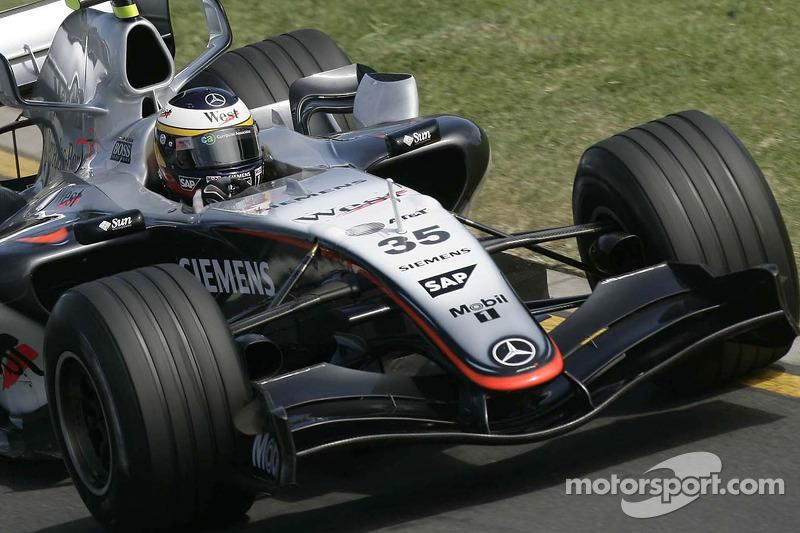 2005: Педро де ла Роса, McLaren, тренировки