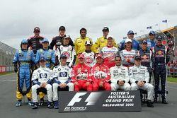 Photo de groupe des pilotes de la saison 2005