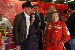 Jean Todt con el actor Nicolas Cage y su esposa Alice
