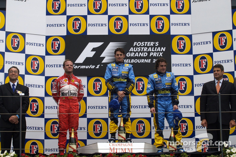 2005: 1. Джанкарло Физикелла, 2. Рубенс Баррикелло, 3. Фернандо Алонсо