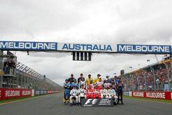 Foto de familia: los pilotos del Campeonato de Fórmula 1 de 2005