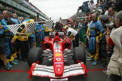 Monoplaza de Rubens Barrichello en Parc Fermé