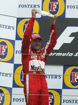 Podio: segundo lugar Rubens Barrichello