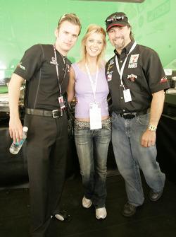 Darren Manning, Tara Reid and Michael Andretti