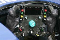 Sauber steering wheel