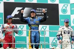 Podium: Sieger Fernando Alonso, 2. Jarno Trulli, 3. Nick Heidfeld